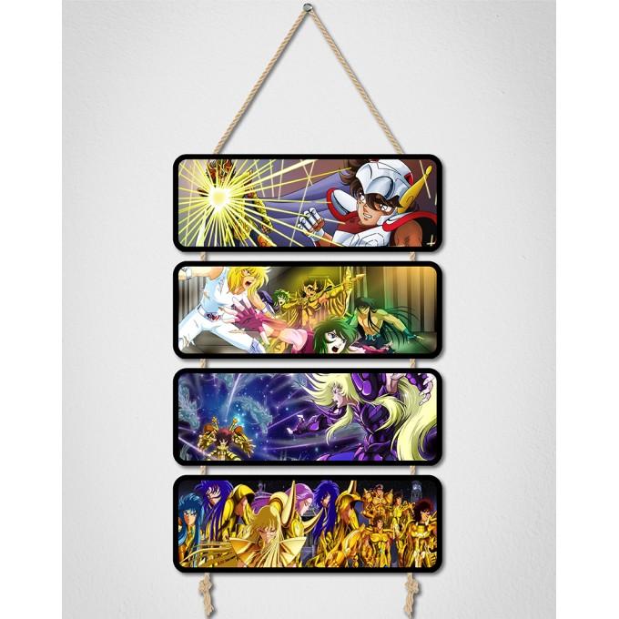 Placas Decorativas - Os Cavaleiros do Zodíaco