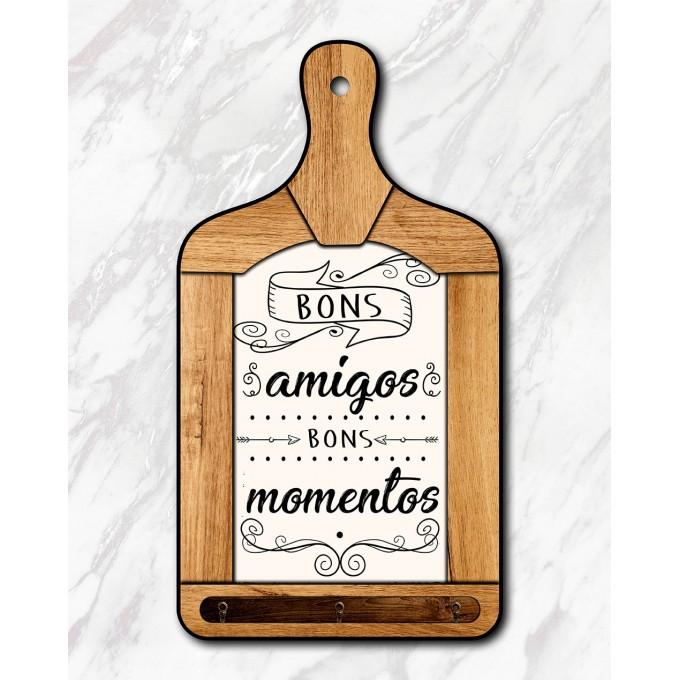 Tábua Decorativa - Bons amigos...