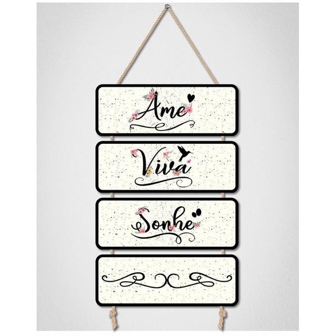 Placas Decorativas - Ame, Viva...