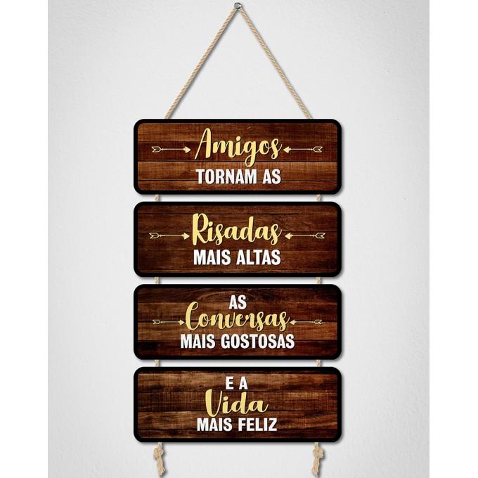 Placas Decorativas - Amigos...