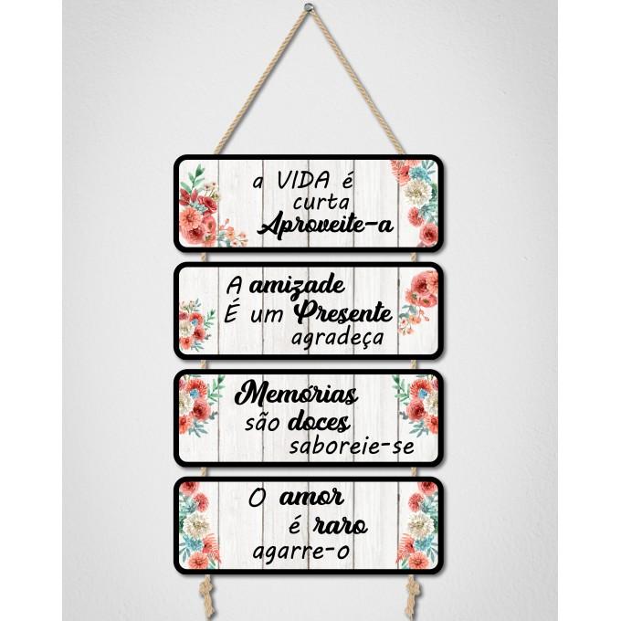 Placas Decorativas - A vida é...