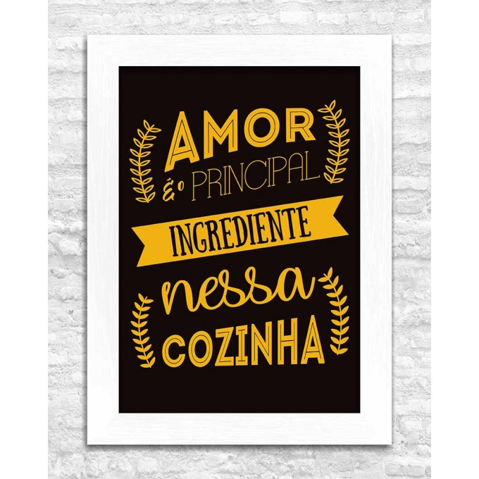 Amor é o principal ingrediente...