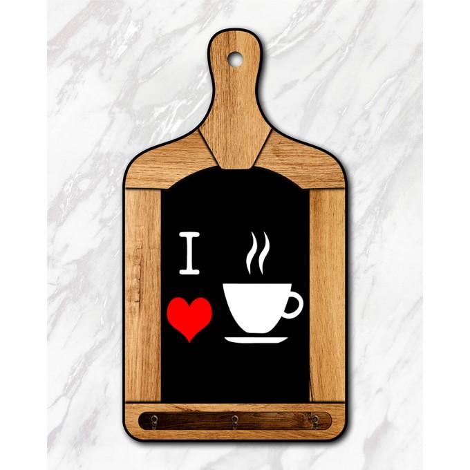 Tábua Decorativa - I Love Café