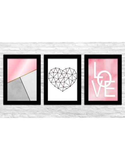 KIT 3 - Love / Rosa