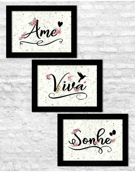 KIT 3 - Ame, Viva e Sonhe