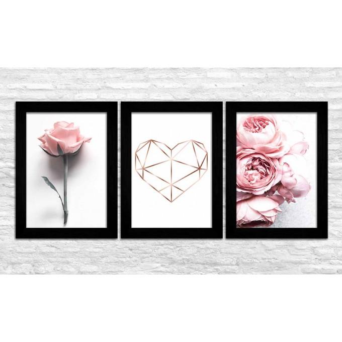 KIT 3 - Coração / Flores