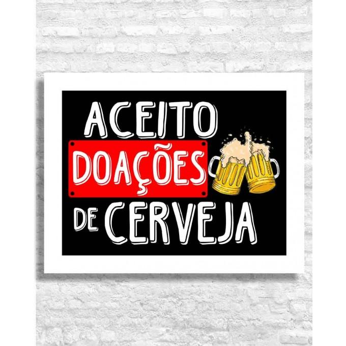 Aceito doações de cerveja