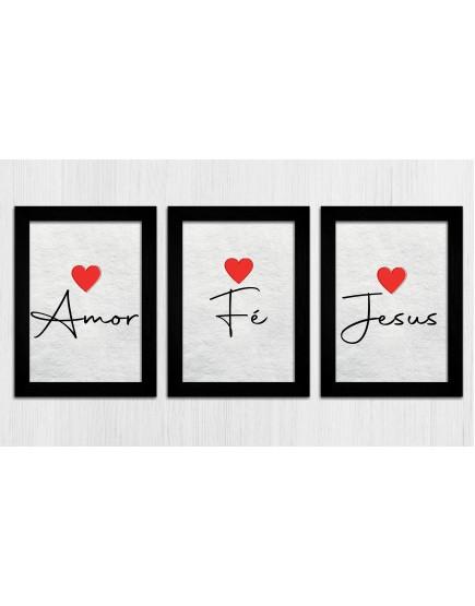 KIT 3 - Amor, Fé, Jesus
