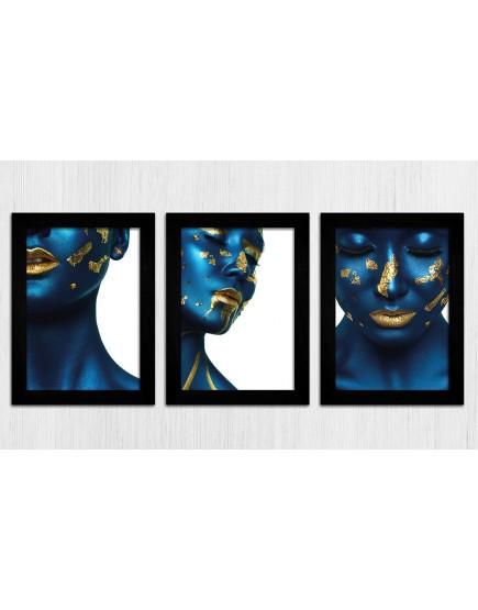 KIT 3 - Mulheres Azul / Ouro